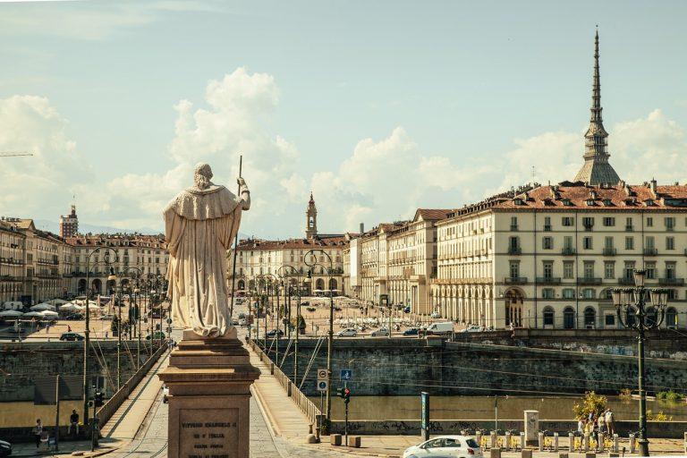 piazza vittorio, torino, italy